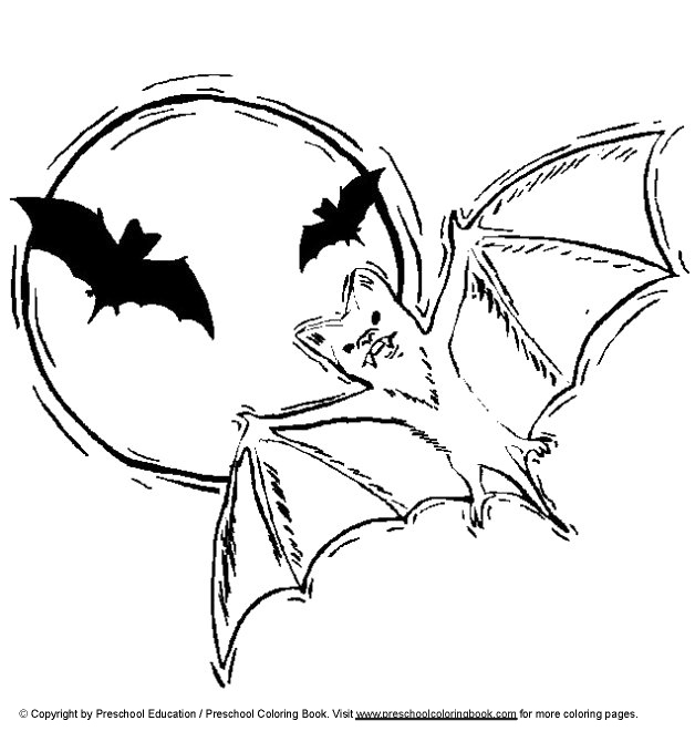 Halloween coloring pages bats for Bats coloring pages